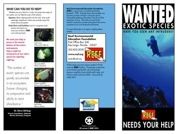 Exotic Species Brochure - Reef