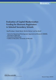 Evaluation of Capital Modernisation Funding for Electronic ...
