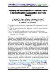 Discovery of A Protein Biomarker Candidate Related ... - OMICS Group
