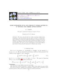 Some weighted sum and product inequalities in L^ p spaces and ...
