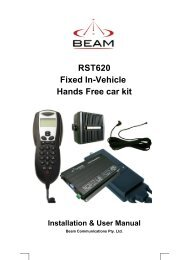 RST620 Fixed In-Vehicle Hands Free car kit Installation & User ...
