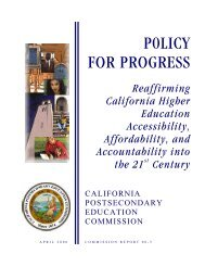 Reaffirming California Higher Education Accessibility