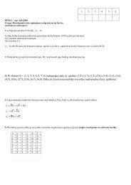 3. W zbiorze S = {1, 2, 3, 4, 5, 6, 7, 8} następujące pary są zgodne: (1 ...