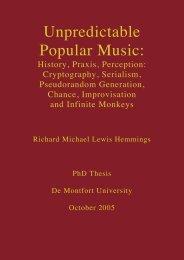 Unpredictable Popular Music: - Richard Hemmings