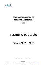 14/10 20:46 - relatório de gestão 2009-2010 - SBIS
