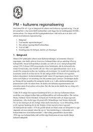 PM kulturens regionalisering 2011 - Bygdegårdarnas Riksförbund