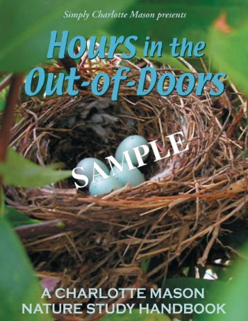 Hours in the Out-of-Doors sample - Simply Charlotte Mason