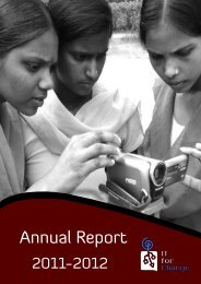 Annual Report (2011-2012) - IT for Change