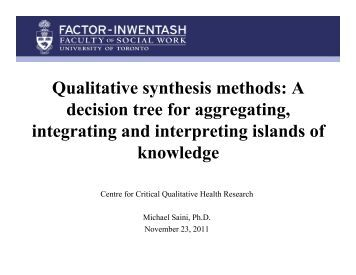 synthesising qualitative and quantitative research Methods for synthesizing qualitative evidence for the synthesis of qualitative and quantitative research in systematic qualitative research synthesis.