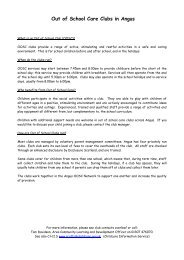 Out of School Clubs factsheet - Angus Council