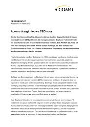 Acomo draagt nieuwe CEO voor (NL versie).pdf - PressPage