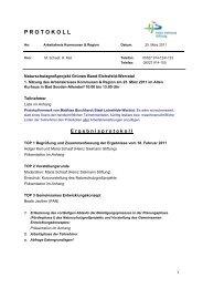 Protokoll (PDF - Das Naturschutzgroßprojekt Grünes Band Eichsfeld ...