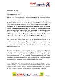 Gefahr für wirtschaftliche Entwicklung in Norddeutschland - VSH