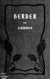 Herder, seine Leben und Wirken