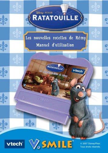 Les nouvelles recettes de Rémy Manuel d'utilisation - Console V.Smile