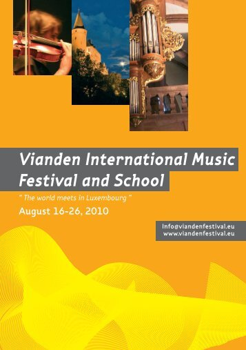 Vianden International Music Festival and School - Naturpark Our