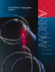 Arrow-Berman™ Angiographic Catheter - Mayo Healthcare