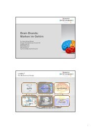 Brain Brands: Marken im Gehirn - Neuromarketing