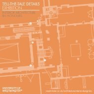 TELL-THE-TALE DETAILS EXHIBITION - University of Westminster