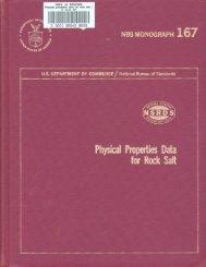 Physical Properties Data for Rock Salt