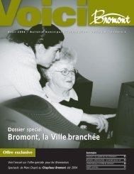 Bromont, la Ville branchée Bromont, la Ville ... - Ville de Bromont