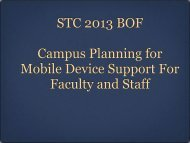 Campus Planning for Mobile Device Support for Faculty and Staff