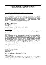 Master Enseignement / Recherche - RELACS