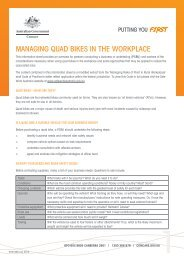 Managing quad bikes in the workplace (WHS 099) - Comcare