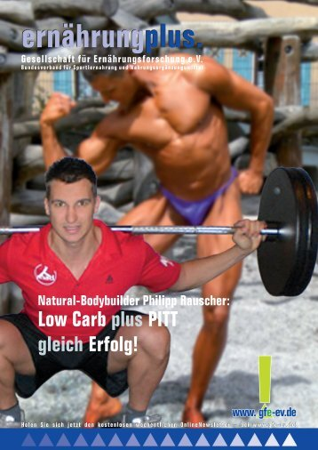 Natural-Bodybuilder Philipp Rauscher: LowCarb plus ... - (GfE) eV