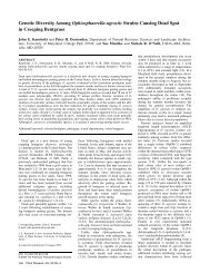 Genetic Diversity Among Ophiosphaerella agrostis Strains Causing ...