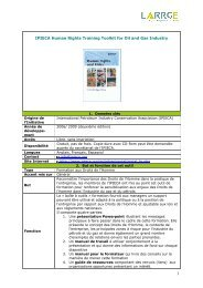 IPIECA Human Rights Training Toolkit for Oil and Gas ... - LARRGE