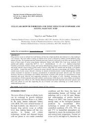 CELLULAR GROWTH INHIBITION AND TOXIC EFFECTS OF ...