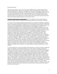 Dear Professor King Please find enclosed the revised version of our ...