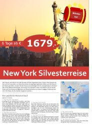 New York Silvesterreise - TRAMEX Travel meets experience