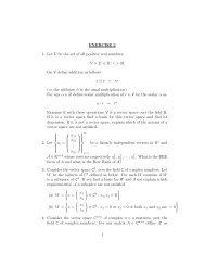 Second problem set