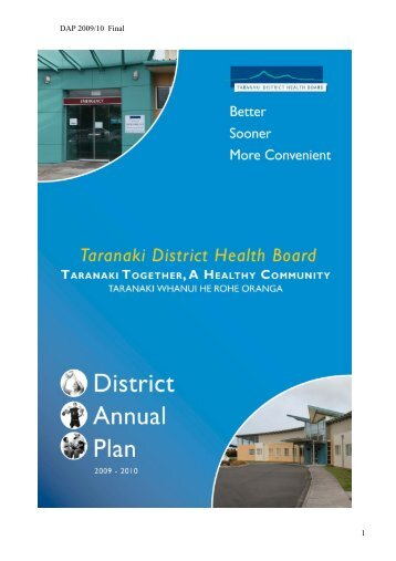 DAP 2009/10 Final 1 - Taranaki District Health Board