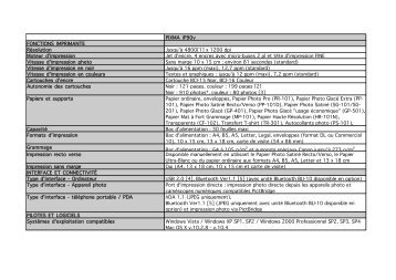 Télécharger la fiche des caractéristiques [PDF, 33 KB]