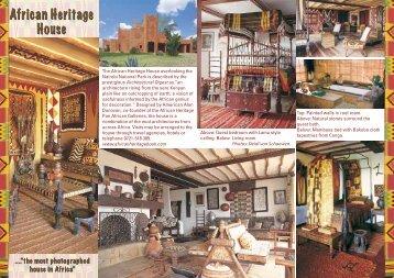 African Heritage Brochure - Alan Donovan