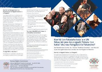 oku nau Faingata'a'ia Fakaesino? - Human Rights Commission