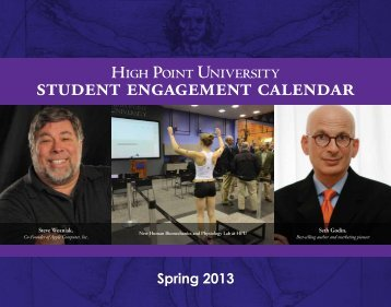 student engagement calendar - High Point University