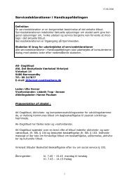 Servicedeklarationer i Handicapafdelingen - AK Dagtilbud