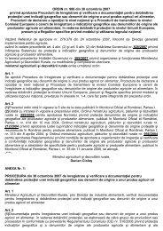 ORDIN nr. 906 din 30 octombrie 2007 privind aprobarea ... - MADR