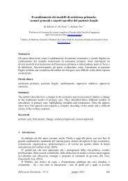 Il cambiamento dei modelli di assistenza primaria: scenari ... - Aiems