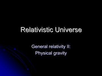 Relativistic Universe - Panoramix