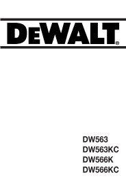 DW563 DW563KC DW566K DW566KC - Service - DeWalt