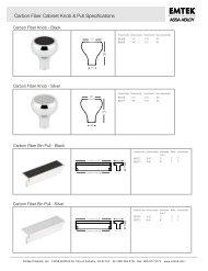Carbon Fiber Cabinet Knob & Pull Specifications - Emtek