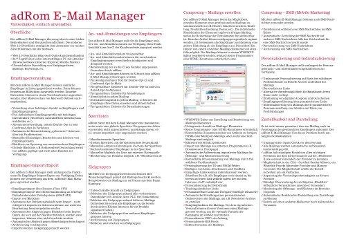 adRom E-Mail Manager