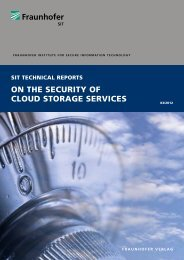 ON THE SECURITY OF CLOUD STORAGE SERVICES