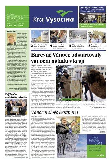 Prosinec 2010 - Extranet - Kraj Vysočina