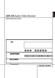 AVR 245Audio-/Video-Receiver - Harman Kardon